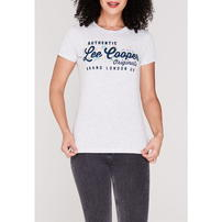 Lee Cooper Large Logo Fashion, koszulka damska, szara