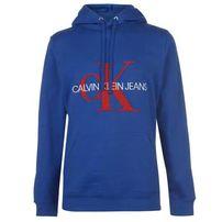 Calvin Klein Jeans, Towel Mono, bluza męska z kapturem, niebieska